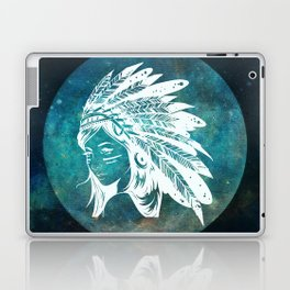 Moon Child Goddess Bohemian Girl Laptop & iPad Skin