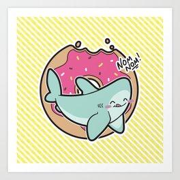 Nom Nom Donuts Art Print