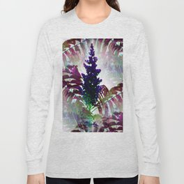 Colorful Seamless Fractal Leaves Long Sleeve T-shirt
