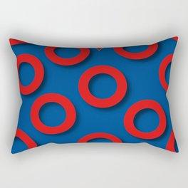 Fishman Donuts Heart Rectangular Pillow