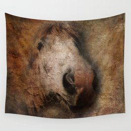Vintage portrait of the horse Wall Tapestry