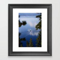 Boat on Crater Lake, Oregon Framed Art Print