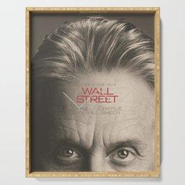 Wall Street, alternative movie poster, Gordon Gekko, Oliver Stone, film, minimal fine art playbill Serving Tray