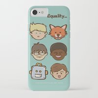 equality iPhone & iPod Cases featuring Equality by Dude Poncio