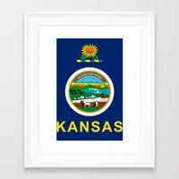 kansas Framed Art Prints featuring KANSAS by changsaw