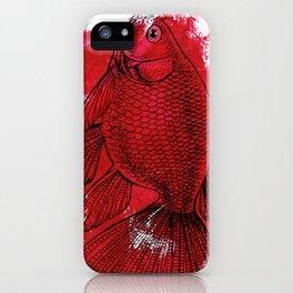 big red fish iPhone Case