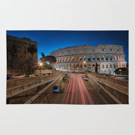 Colosseum at dawn Rug
