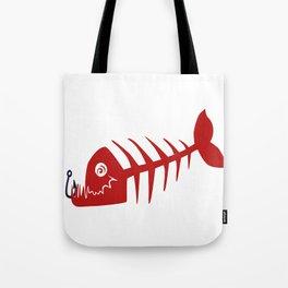 Pirate Bad Fish red- pezcado Tote Bag