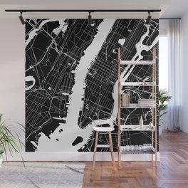 New York City Black On White Wall Mural