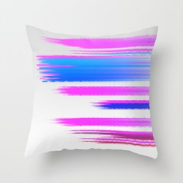 Abstract pink and blue Throw Pillow