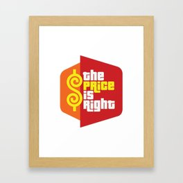 The Price is Right 2 Framed Art Print