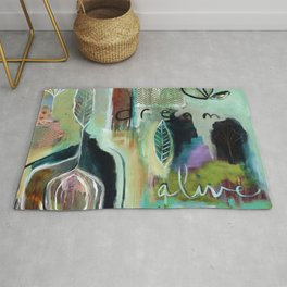 """Dream Alive"" Original Painting by Flora Bowley Rug"