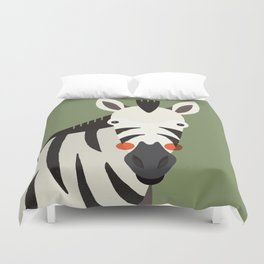 Zebra, Animal Portrait Duvet Cover