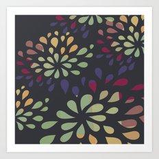 Dark drops 2 Art Print