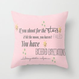Exceeded Expectations Throw Pillow