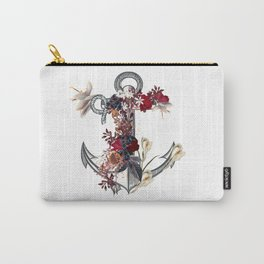 Anchor sea vacation. Floral design Carry-All Pouch