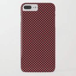 Black and Flame Scarlet Polka Dots iPhone Case