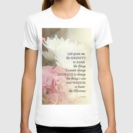 Serenity Prayer Bouquet T-shirt