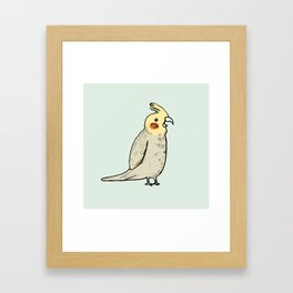 Happy Cockatiel Framed Art Print