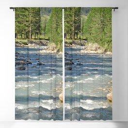 Mountain Creek Fir Trees Forest Landscape Blackout Curtain