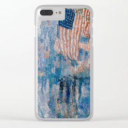 The Avenue in the Rain by Childe Hassam, 1917 Clear iPhone Case