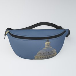 A perigee full moon or supermoon is seen behind clouds over the United States Capitol Sunday August Fanny Pack