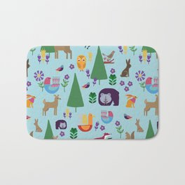 Folk Art Woodlands Bath Mat