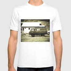 Old truck. MEDIUM White Mens Fitted Tee