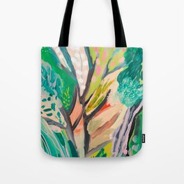 tree and leaf : abstract painting Tote Bag