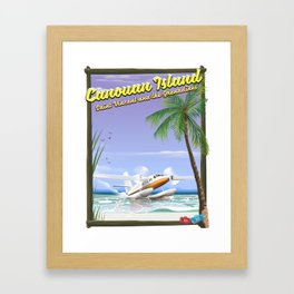 Canouan Islands travel poster Framed Art Print
