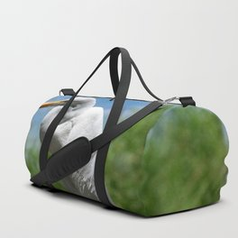Great Egret Two - Utah Duffle Bag