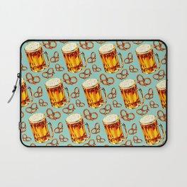 Beer & Pretzel Pattern Laptop Sleeve