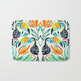 Tropical Toucans Bath Mat