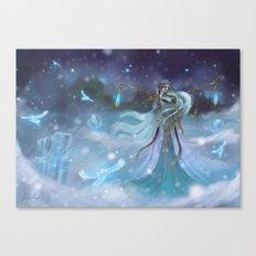 Lady Winter Canvas Print
