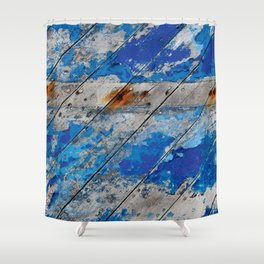 Burghead Boat 5 Shower Curtain
