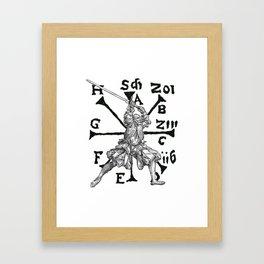 VomTag. Medieval Renaissance Swordsman Framed Art Print