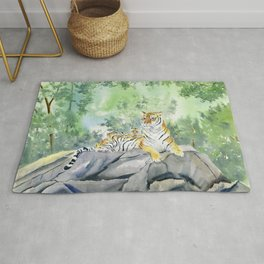 Tiger Family Rug