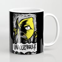lemongrab Mugs featuring UNACCEPTABLE!!! by Eevachu