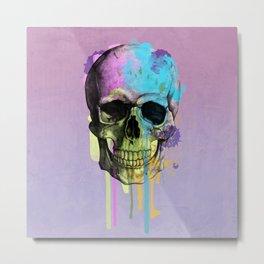 skull in purple Metal Print