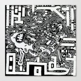 Organic Memories of An Urban Elephant Canvas Print
