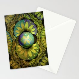 The Enchanted Feathers of the Golden Snitch Stationery Cards
