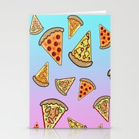 pizza Stationery Cards featuring PIZZA by SteffiMetal