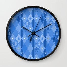 Blue Lily Bear Wall Clock