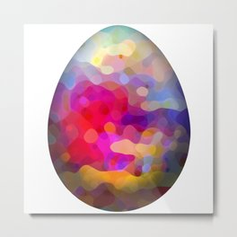 Abstract easter egg on white background Metal Print