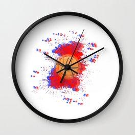 BASKETBALL 3D GRAFFITI Wall Clock