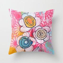 flower garden no.01 Throw Pillow