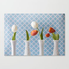 Spring Line Up - Tulips Canvas Print