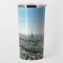 Paris France and Eiffel Tower by day time Travel Mug