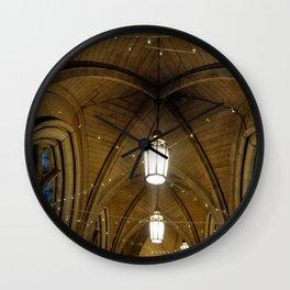 Fairy lights in a magical cloister Wall Clock