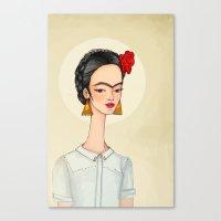 frida Canvas Prints featuring Frida by Renia